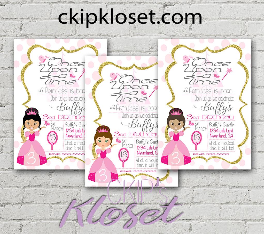 Princess birthday invitation pink princess invitation pink prev stopboris Choice Image