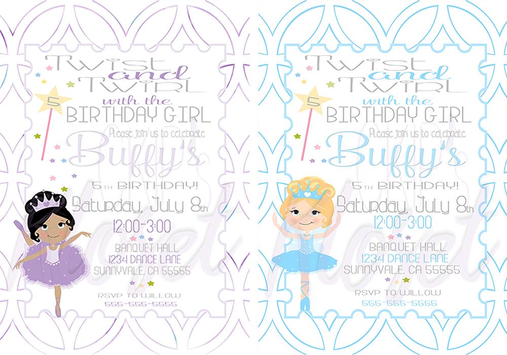 Twist and twirl birthday invite tutu invitation tutu party prev filmwisefo