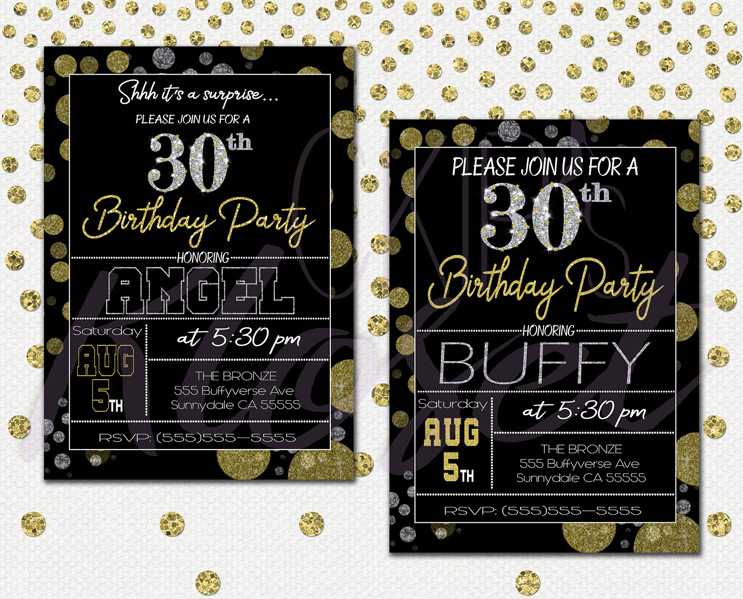 Surprise 30th Birthday Invitations For Him Or Her Mens Or Womens